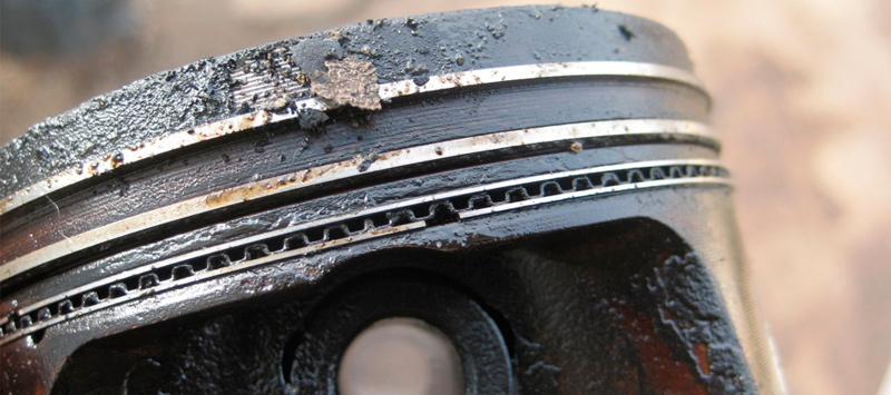 Кольца и канавки, требующие очистки